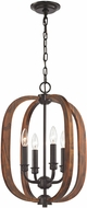 ELK 32140-4 Wood Arches Oil Rubbed Bronze Red Oak Entryway Light Fixture