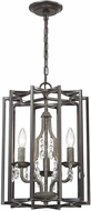ELK 32150-3 Belgique Oil Rubbed Bronze Malted Rust Foyer Light Fixture