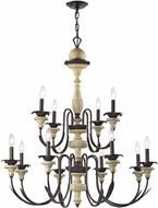 ELK 32221-8-4 Channery Point Oil Rubbed Bronze Aged Cream Chandelier Lighting