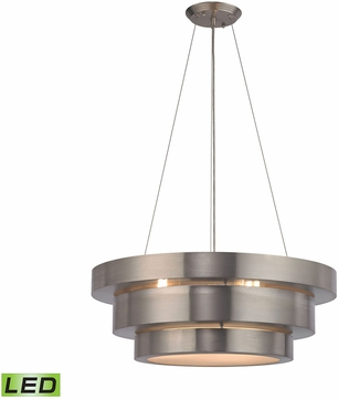 ELK 32225 3 LED Layers Modern Brushed Stainless LED Drop Ceiling Light  Fixture