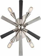 ELK 32230-4 Solara Modern Polished Nickel Grey Washed Woodtone Lighting Sconce