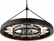 ELK 32237-12 Chronology Contemporary Oil Rubbed Bronze Chandelier Light