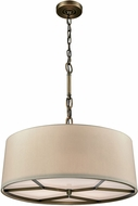 ELK 32264-4 Baxter Brushed Antique Brass Drum Hanging Light