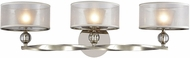ELK 32292-3 Corisande Contemporary Polished Nickel Halogen 3-Light Bathroom Lighting Fixture