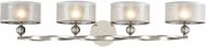 ELK 32293-4 Corisande Modern Polished Nickel Halogen 4-Light Vanity Lighting
