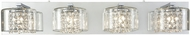 ELK 32304-4 Springvale Polished Chrome Halogen 4-Light Bath Light Fixture
