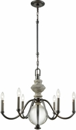 ELK 32313-6 Neo Classica Aged Black Nickel 27  Chandelier Lighting