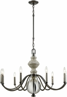 ELK 32314-9 Neo Classica Aged Black Nickel 35  Lighting Chandelier