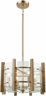 ELK 32333-4 Vindalia Contemporary Satin Brass Drum Pendant Hanging Light