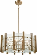 ELK 32334-6 Vindalia Modern Satin Brass Drum Hanging Light Fixture