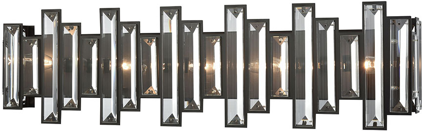 ELK 33002 5 Crystal Heights Oil Rubbed Bronze 30u0026nbsp; Bathroom Vanity  Lighting. Loading Zoom