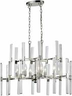 ELK 33033-6 Crystal Heights Polished Nickel Chandelier Light