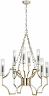 ELK 33045-8 Sylvanna Antique Silver Leaf / Dark Graphite Chandelier Lamp