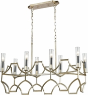 ELK 33046-8 Sylvanna Antique Silver Leaf / Dark Graphite Kitchen Island Lighting