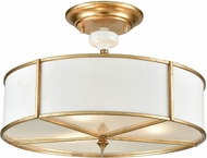 ELK 33052-3 Ceramique Antique Gold Leaf Ceiling Light
