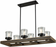ELK 33072-6 Timberwood Modern Oil Rubbed Bronze Kitchen Island Light Fixture