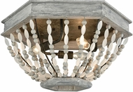 ELK 33191-3 Summerton Contemporary Washed Gray / Malted Rust Ceiling Lighting Fixture