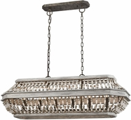 ELK 33192-6 Summerton Modern Washed Gray / Malted Rust Kitchen Island Lighting