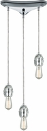ELK 33220-3 Socketholder Polished Chrome Multi Drop Ceiling Lighting