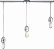 ELK 33220-3L Socketholder Polished Chrome Multi Ceiling Light Pendant