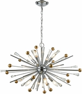 ELK 33253-8 Williston Polished Chrome / Satin Brass 32  Chandelier Lamp