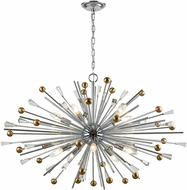 ELK 33254-10 Williston Polished Chrome / Satin Brass 39  Chandelier Light