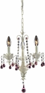 ELK 4040-3 Elise Antique White Mini Chandelier Light