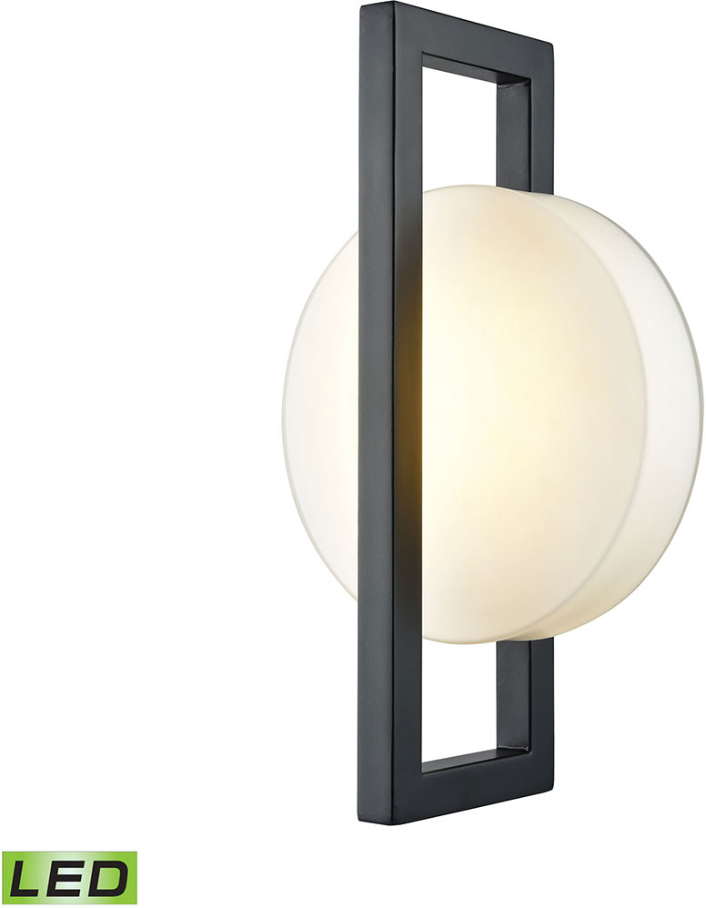 Elk 42530 Led Zulle Modern Matte Black Led Outdoor Wall Light Fixture Elk 42530 Led