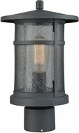 ELK 45018-1 Aspen Lodge Textured Matte Black Exterior Post Lighting