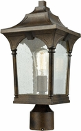 ELK 45048-1 Loringdale Traditional Hazelnut Bronze Outdoor Post Lamp