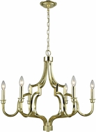 ELK 45056-6 Livonia Polished Gold Hanging Chandelier