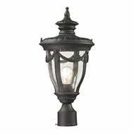 ELK 45079-1 Anise Traditional Textured Matte Black Post Lamp