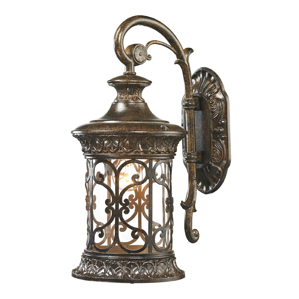 ELK 45080 1 Orlean Traditional Hazelnut Bronze Outdoor Wall Lighting Sconce.  Loading Zoom
