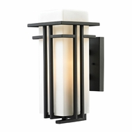 ELK 45086-1 Croftwell Modern Textured Matte Black Exterior Wall Lighting Fixture