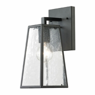 ELK 45090-1 Meditterano Mediterranean Textured Matte Black Exterior Wall Sconce Light