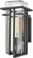 ELK 45186-1 Croftwell Contemporary Textured Matte Black Outdoor Wall Lighting