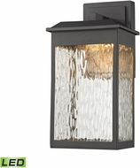 ELK 45200-LED Newcastle Modern Textured Matte Black LED Exterior Wall Lighting