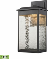 ELK 45202-LED Newcastle Modern Textured Matte Black LED Exterior Light Sconce