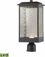 ELK 45204-LED Newcastle Modern Textured Matte Black LED Exterior Post Lighting