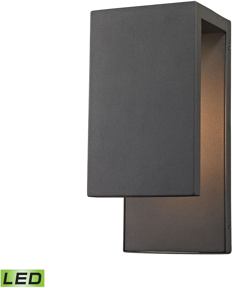 modern sconce lighting. elk 45231led pierre modern textured matte black led exterior wall sconce lighting loading zoom e