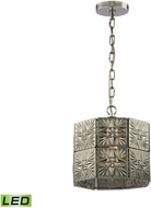 ELK 45237-1-LED Glass Tile Contemporary Polished Chrome LED Mini Pendant Lamp