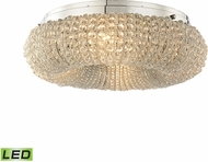 ELK 45290-4-LED Crystal Ring Polished Chrome LED Flush Lighting