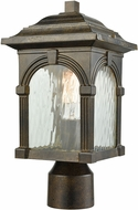 ELK 45304-1 Stradelli Traditional Hazelnut Bronze Exterior Lamp Post Light