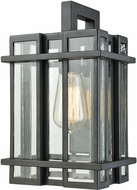 ELK 45314-1 Glass Tower Contemporary Matte Black Outdoor Wall Lighting Fixture