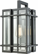 ELK 45315-1 Glass Tower Modern Matte Black Exterior Wall Light Sconce