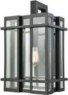 ELK 45316-1 Glass Tower Contemporary Matte Black Outdoor Wall Sconce Light
