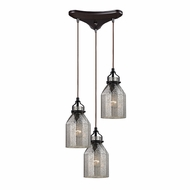ELK 46009-3 Danica Contemporary Oil Rubbed Bronze Multi Hanging Light