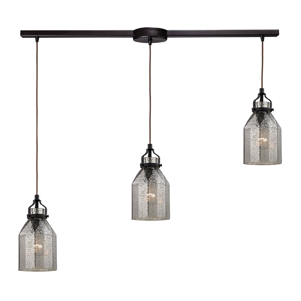 Elk 46009 3l danica modern oil rubbed bronze multi pendant Modern pendant lighting
