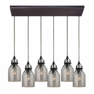 ELK 46009-6RC Danica Modern Oil Rubbed Bronze Multi Hanging Pendant Lighting