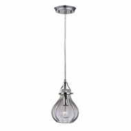 ELK 46014-1 Danica Contemporary Polished Chrome Mini Drop Ceiling Lighting
